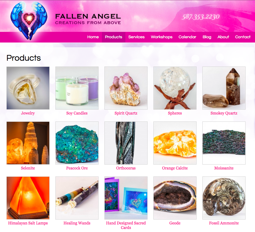 Fallen Angel Creations engaged InkPlot to develop an e-Commerce component to their existing website.